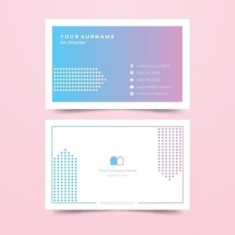 Cartão de visita gradiente