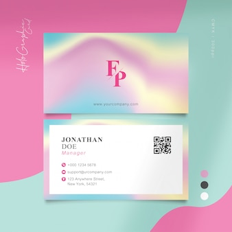 Cartão de visita holográfico doce
