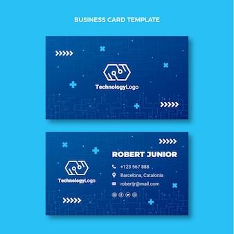 Cartão de visita horizontal com tecnologia mínima