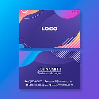 Cartão de visita horizontal comercial Vetor Premium