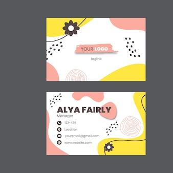 Cartão de visita horizontal de brunch