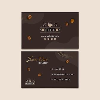 Cartão de visita horizontal de café