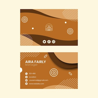 Cartão de visita horizontal de cookies