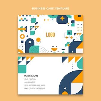 Cartão de visita horizontal de design plano imobiliário