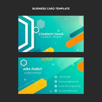 Cartão de visita horizontal de gradiente imobiliário