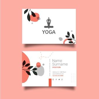 Cartão de visita horizontal de meditação