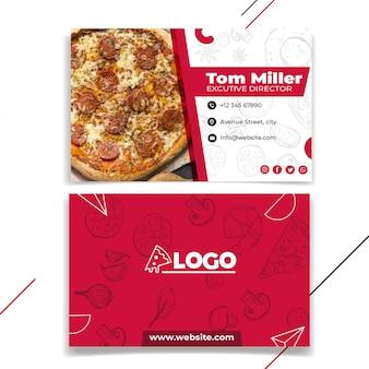 Cartão de visita horizontal de pizzaria