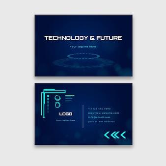 Cartão de visita horizontal de tecnologia