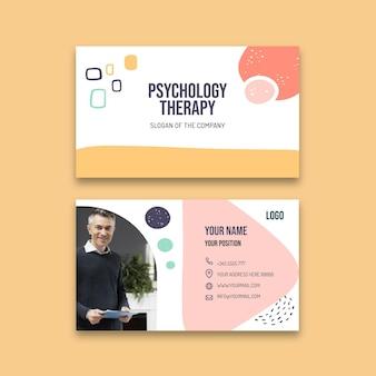 Cartão de visita horizontal de terapia psicológica