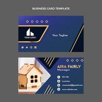 Cartão de visita horizontal de textura de gradiente