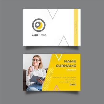 Cartão de visita horizontal empresária