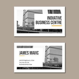 Cartão de visita horizontal empresarial