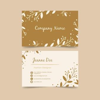 Cartão de visita horizontal frente e verso