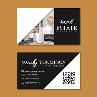 Cartão de visita horizontal imobiliário