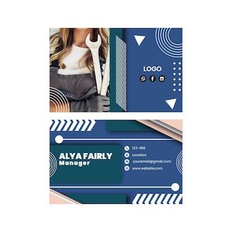Cartão de visita horizontal mecânico