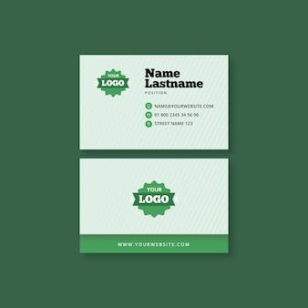 Cartão de visita horizontal para alimentos saudáveis e bio