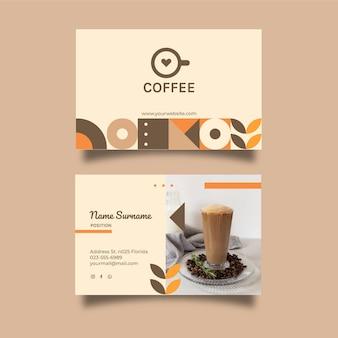 Cartão de visita horizontal para cafeteria