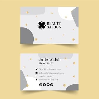 Cartão de visita horizontal para salão de beleza