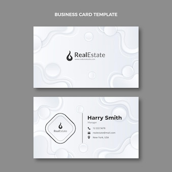 Cartão de visita imobiliário com textura gradiente horizontal