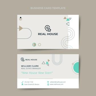 Cartão de visita imobiliário de design plano