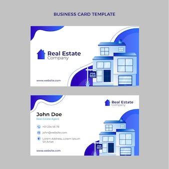 Cartão de visita imobiliário gradiente com edifícios