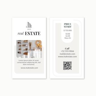 Cartão de visita imobiliário
