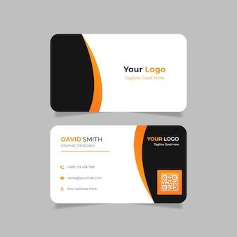 Cartão de visita laranja e preto