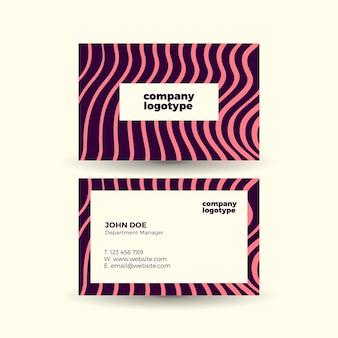Cartão de visita legal com efeito de onda