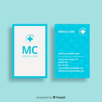 Cartão de visita liso com conceito médico