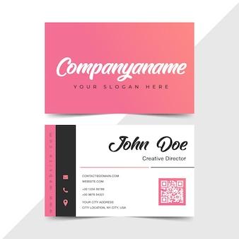 Cartão de visita liso do design no rosa