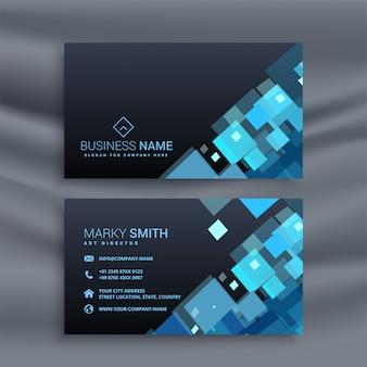 Cartão de visita liso geométrico