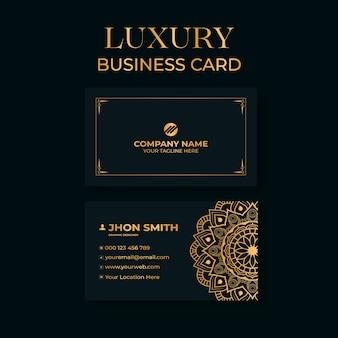 Cartão de visita luxo ouro