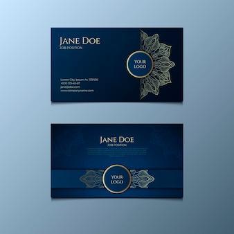 Cartão de visita mandala detalhado