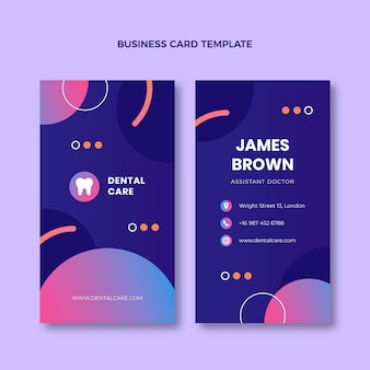 Cartão de visita médico gradiente vertical