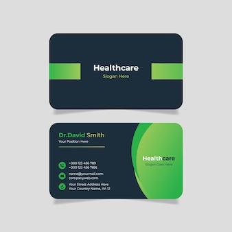 Cartão de visita médico gradiente