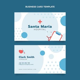 Cartão de visita médico horizontal plano