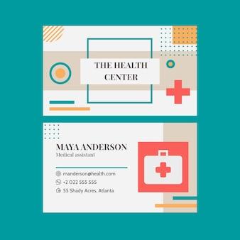 Cartão de visita médico plano horizontal