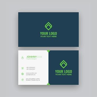 Cartão de visita minimalista elegante