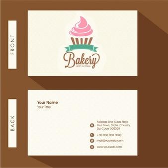 Cartão de visita minimalista para padaria