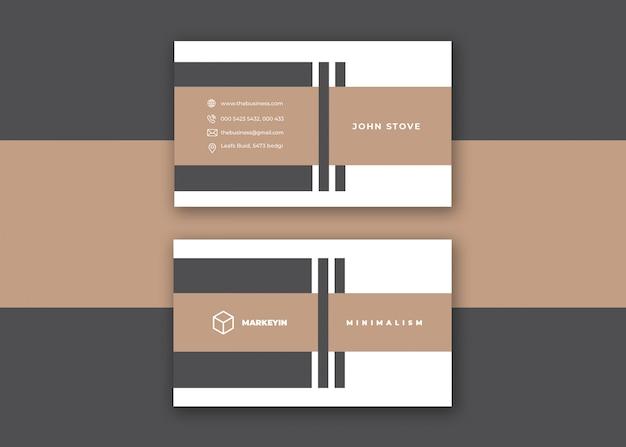 Cartão de visita mínimo colorido criativo corporativo limpo