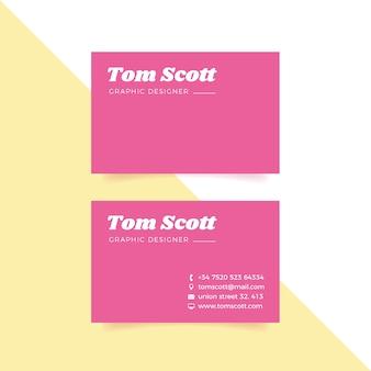 Cartão de visita mínimo colorido da coleção do modelo