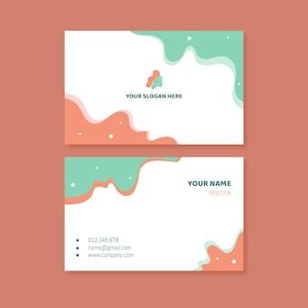 Cartão de visita mínimo com detalhes de contato