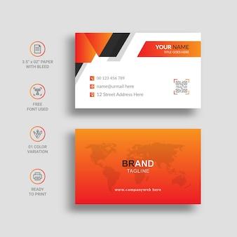 Cartão de visita mínimo com incrível cor gradiente