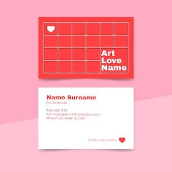 Cartão de visita mínimo do diretor de arte do design