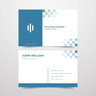 Cartão de visita mínimo para designer criativo
