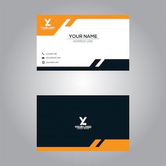 Cartão de visita modelo abstrato moderno design
