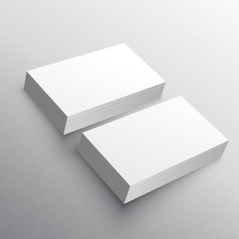 Cartão de visita modelo de apresentação mockup