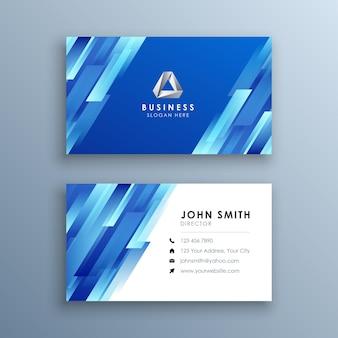 Cartão de visita moderno abstrato azul