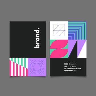 Cartão de visita moderno com formas abstratas