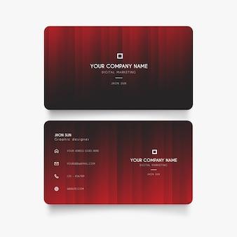 Cartão de visita moderno com vermelho degradar